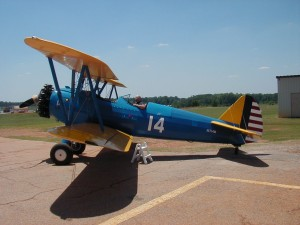 Harry Ballance in his stearman