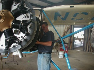 Vern working on a Fairchild 24 restoration.